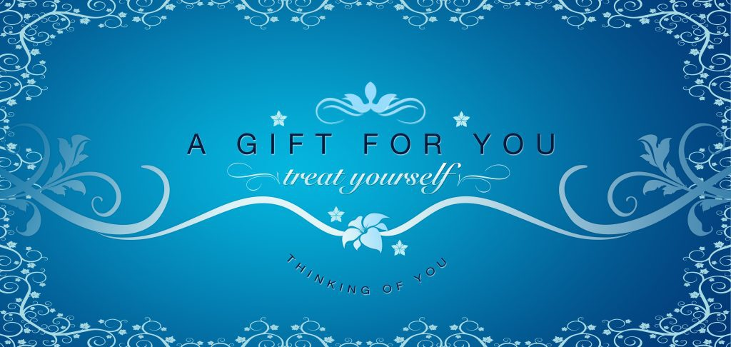 High resolutions gift certificate graphic with floral ornaments.